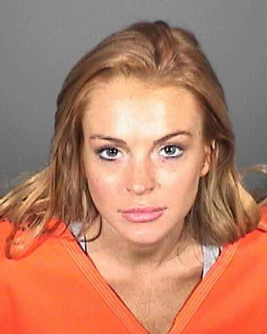 Lindsay Lohan Booking Photo